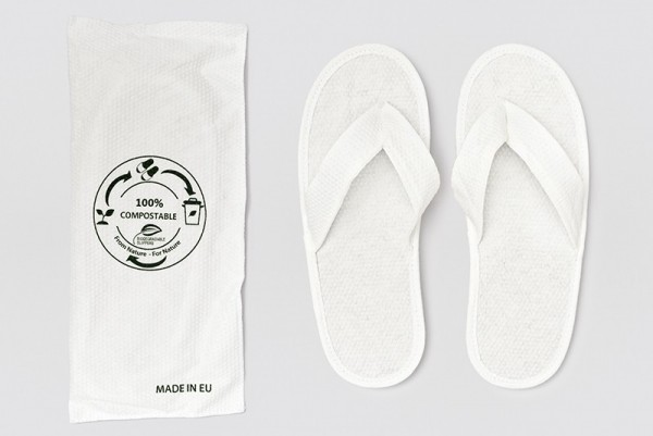 Lotus Piquet Slipper Flip Flop weiss