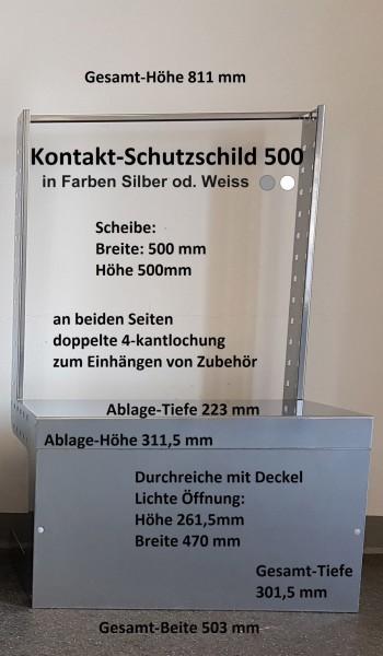 Hygiene Schutzschild 500 weiss