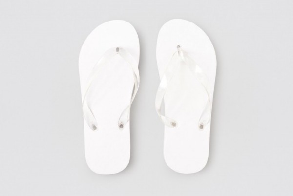 Beach Flip-Flop weiss, 15mm PE, Größe 26,6cm (40)