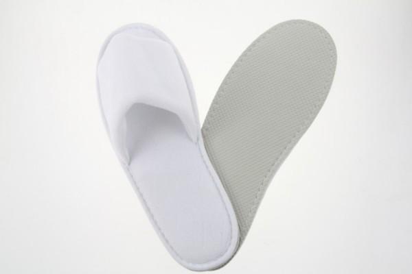 Royal Velour-Slipper offen weiß Größe 29,5 cm