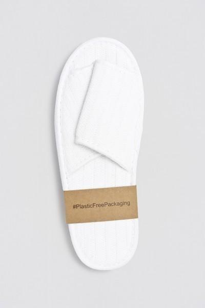 Nature Comfort-Slipper offen weiß 28,5 cm Banderole