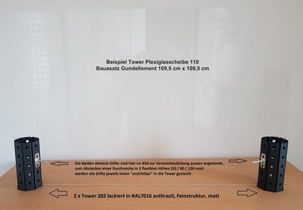 Tower Plexiglasscheibe 110 (Beispielbild)