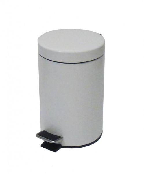 Treteimer Metall Weiß 5 L