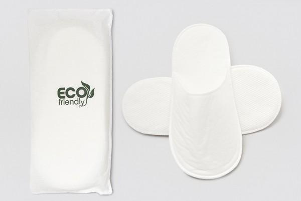 Hotel-Slipper Eco-Natur-Line Floris geschlossen weiß