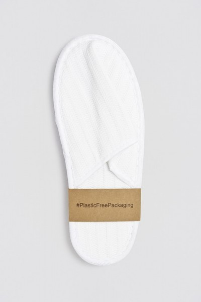 Nature Piquet-Slipper geschlosssen weiß 28,5 cm Banderole