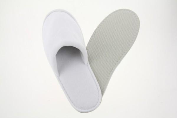 Royal Velour-Slipper geschlossen weiß Größe 28,5 cm