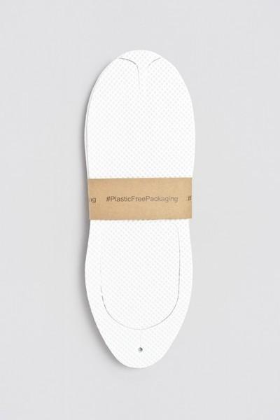 Hammam Flip-Flop weiß Größe 28,2cm Plastik frei Verpackt