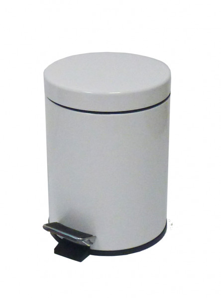 Treteimer Metall Weiß 3 L