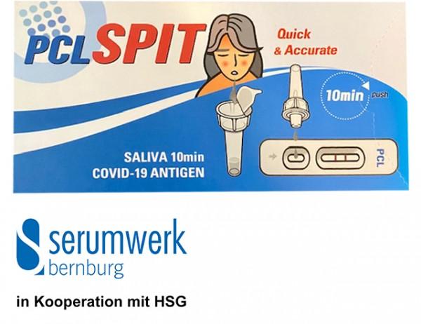 Saliva PCL SPIT SARS-CoV-2 Antigen-Schnelltest